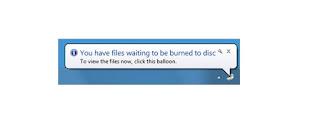 menghilangkan you have files waiting to be burned