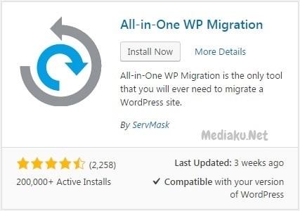 Pindah Blog Dengan All-in-One WP Migration