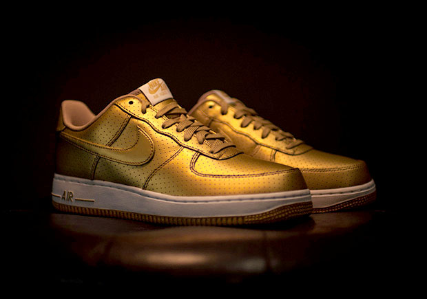 Nike Air Force One Metallic Gold Rio 2016