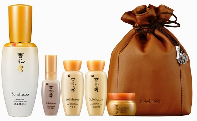 Sulwhasoo's 1st Anniversary Starter Pack, Sulwhasoo, First Care Activating Serum, First Care Activating Serum, Essential Balancing Water, Essential Balancing Emulsion, Concentrated Ginseng Renewing Cream, Sulwhasoo 1st Anniversary Pouch, korean skincare, korean ginseng, korean ginseng skincare