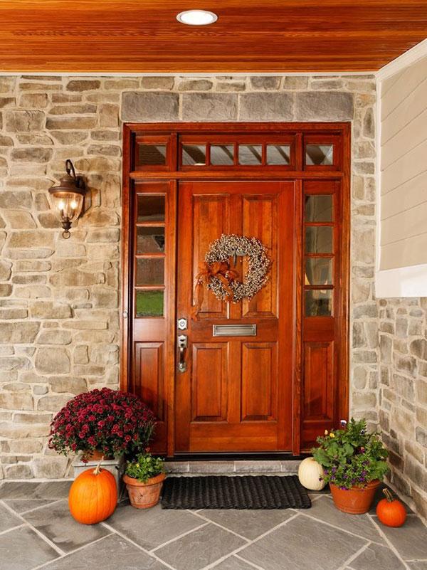 Hogares frescos 30 dise os inspiradores para la entrada for Puertas de madera para entrada principal de casa