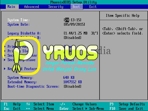 Cara Setting BIOS Agar Booting dari CD ROOM / USB Device