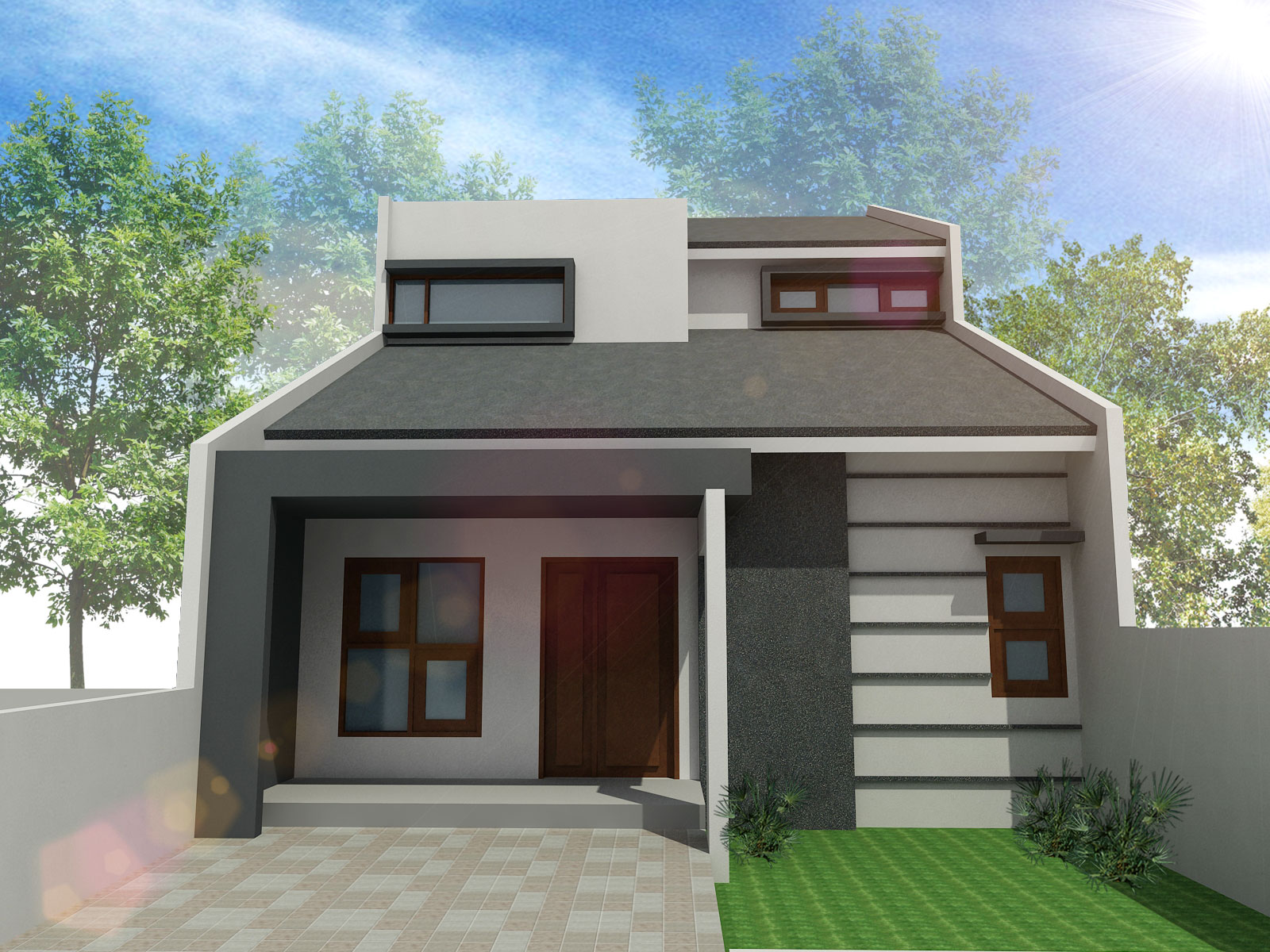 Desain Rumah Minimalis 1 Lantai Sederhana Musail 84