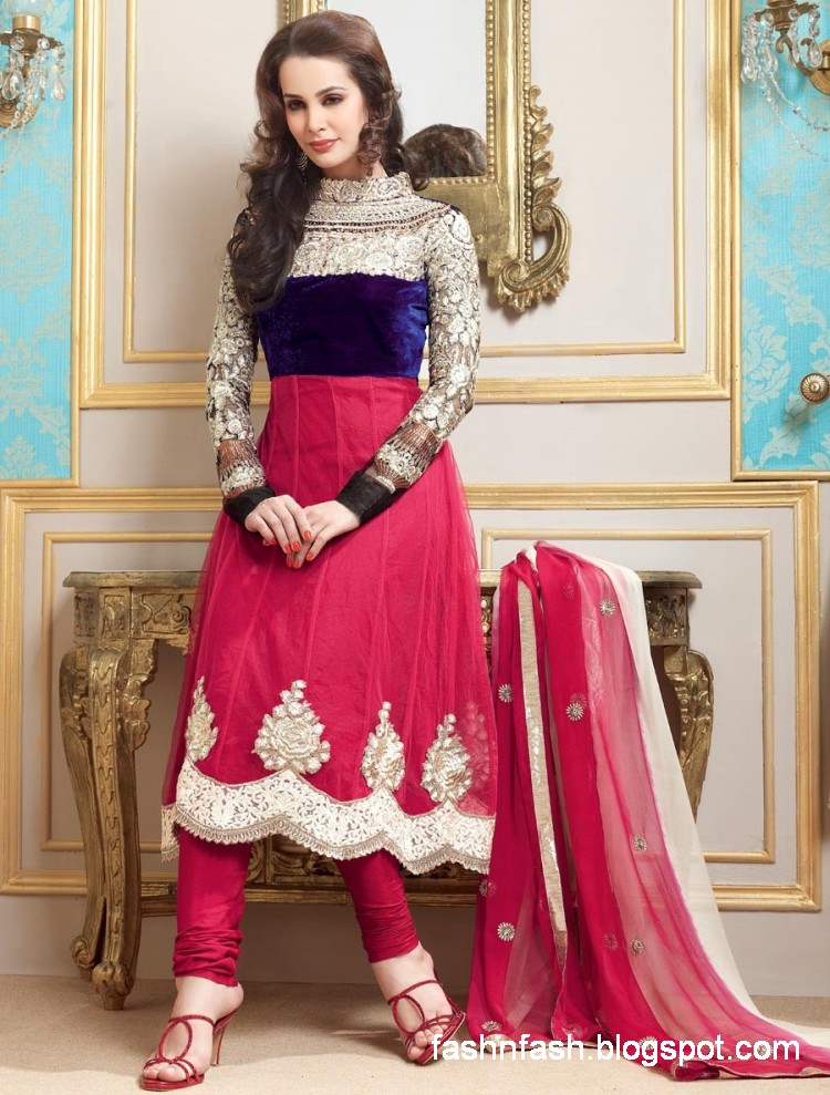 Latest Fashion Trend In Saree: Fashion & Fok: Anarkali Umbrella Frocks-Anarkali Fancy