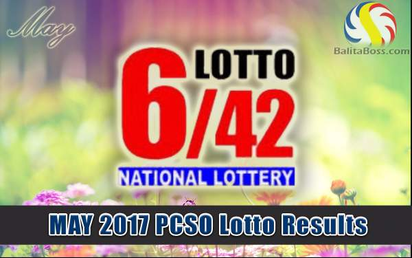 Results: May 2017 Lotto 6/42 PCSO Lotto