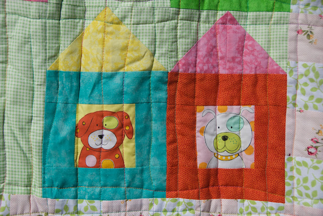 houses quilt