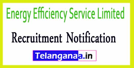 Energy Efficiency Service Limited EESL Recruitment  Notification