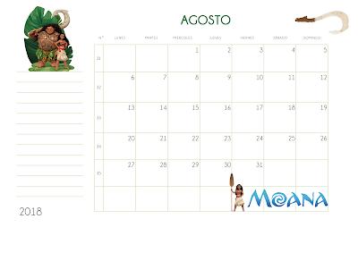 Calendario Para Imprimir Moana Pdf Recursos Para Niñ At S