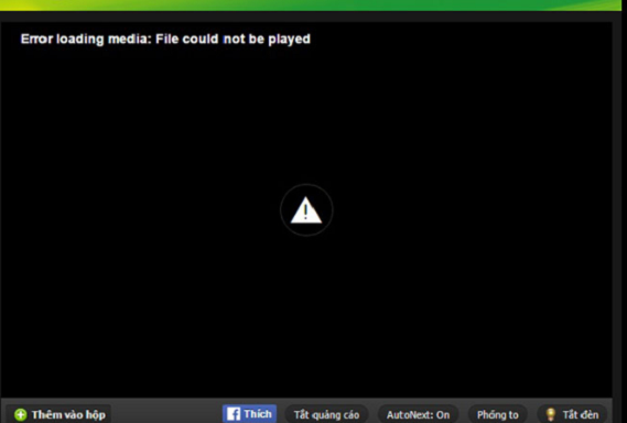 Cốc Cốc, Chrome bị lỗi Error loading player: No playable sources found (coccoc://plugins)