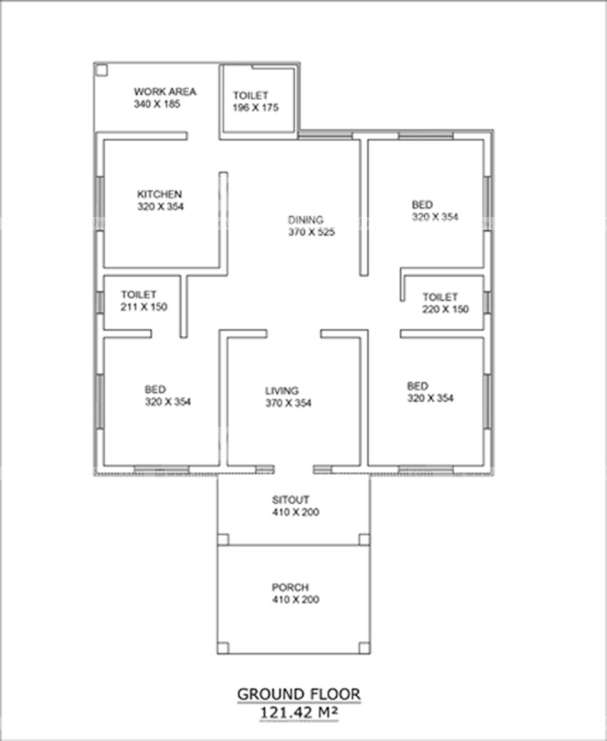 3 Bedroom Traditional Colonial Home for 20 Lakhs in 1307Sqft