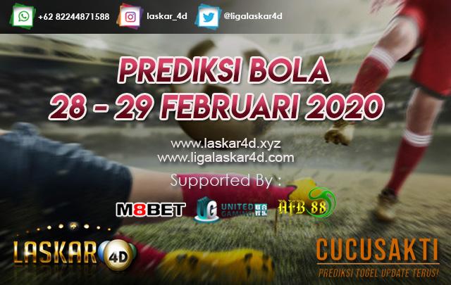 PREDIKSI BOLA JITU TANGGAL 28 – 29 FEB 2020