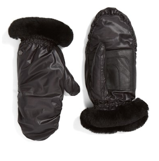 UGG Australia Shearling Leather Mitts