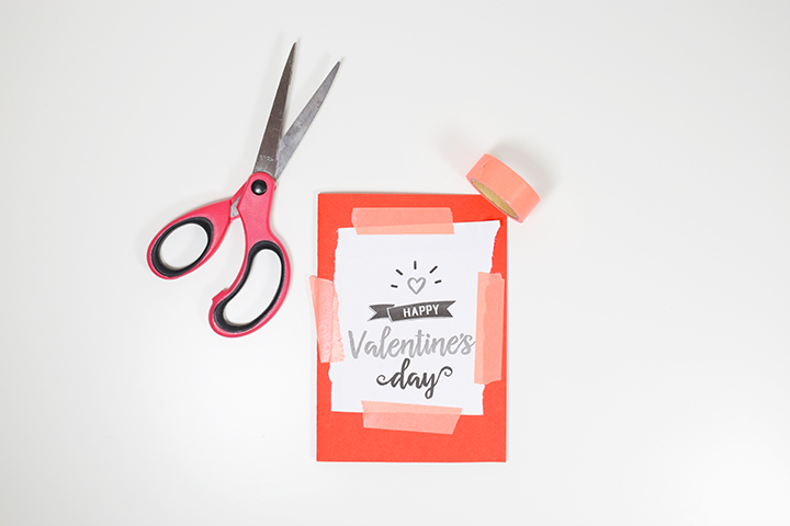 Etape 2 DIY broder une carte de saint valentin