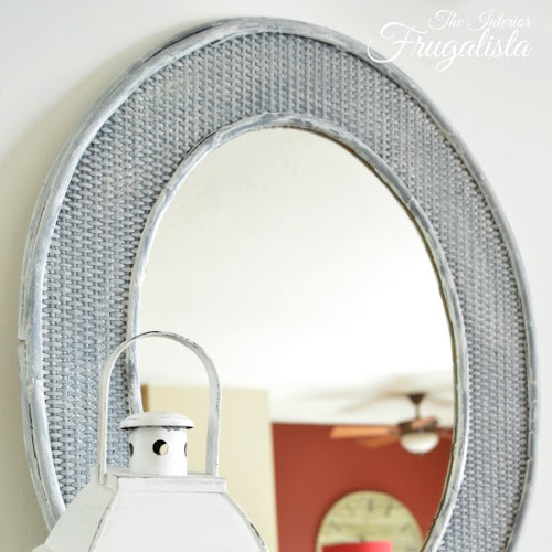 Driftwood Inspired Rattan Oval Mirror Makeover