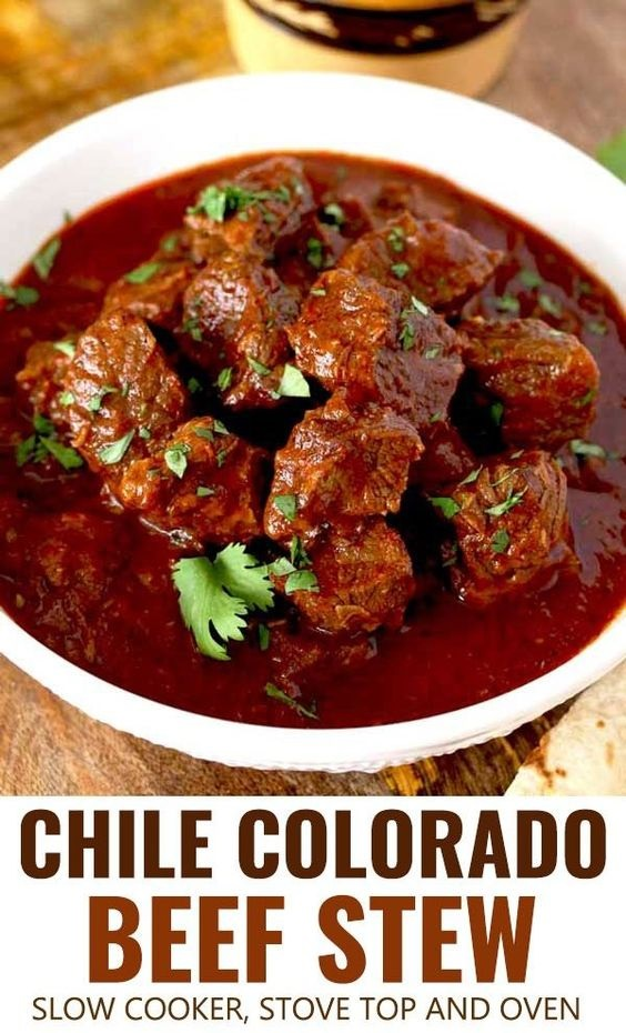 Chile Colorado Beef Stew