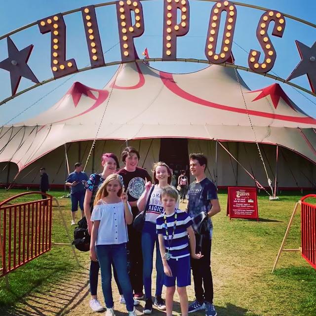 entrance to Zippos Circus in Blackheath, London