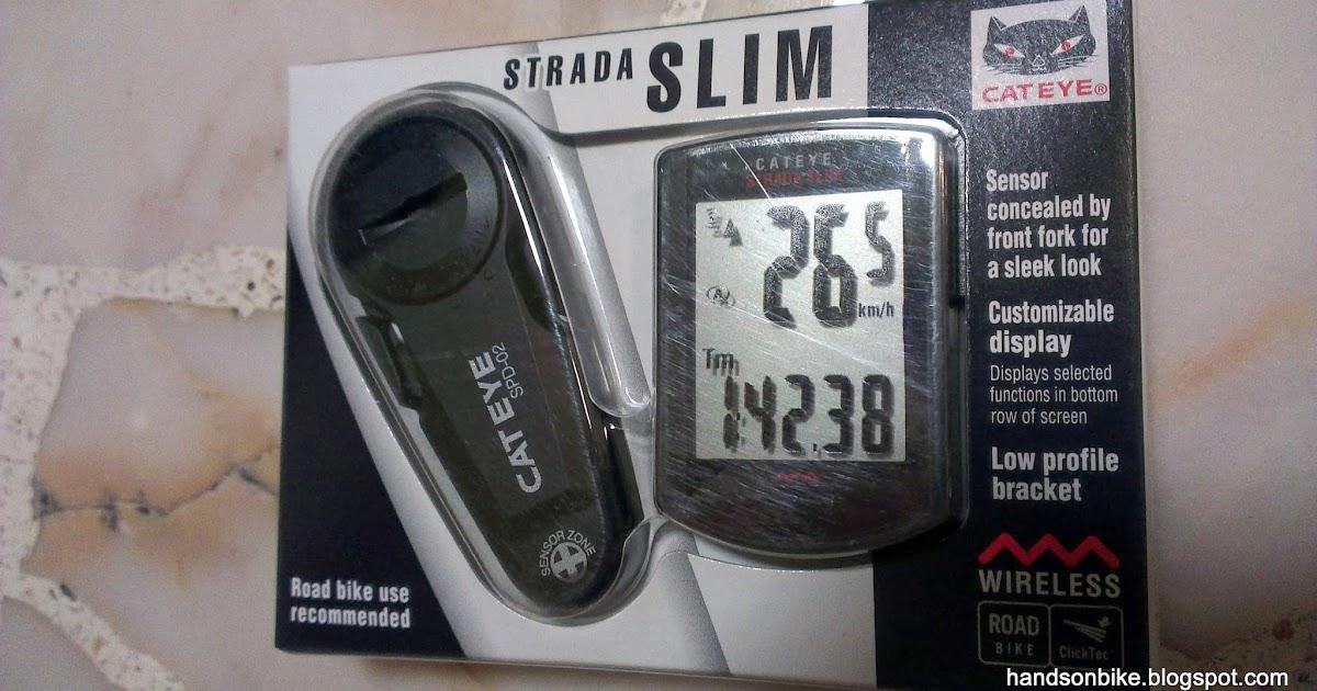 Hands On Bike Cateye Strada Slim Wireless Speedometer