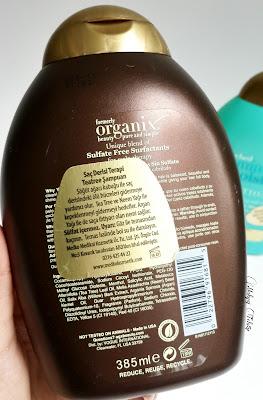 organix şampuan