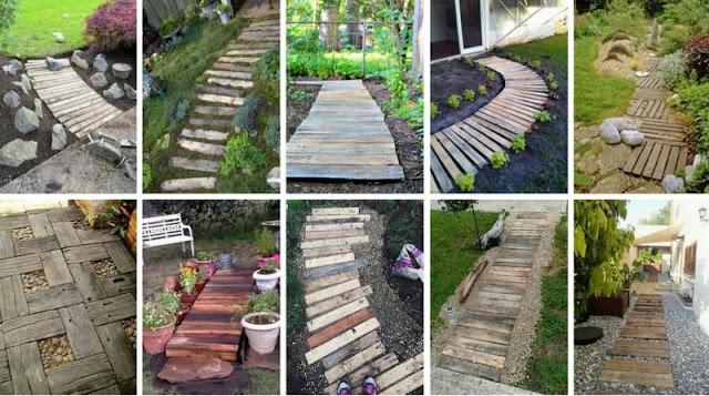Πωςθα φτιάξετε μονοπάτια-διαδρόμους κήπου από Παλετόξυλα