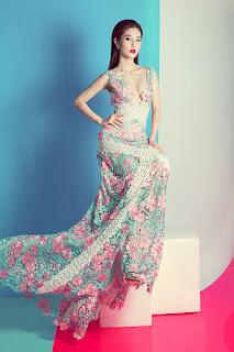 Diễm my 9x quyến rũ gợi cảm với loạt váy ren trong suốt tinh t6ế
