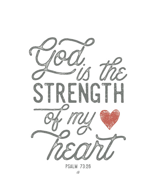 LostBumblebee ©2017 MDBN, Psalm 73-26, God Strength of my heart, home decor, free printable, donate to download, personal use only, www.lostbumblebee.net