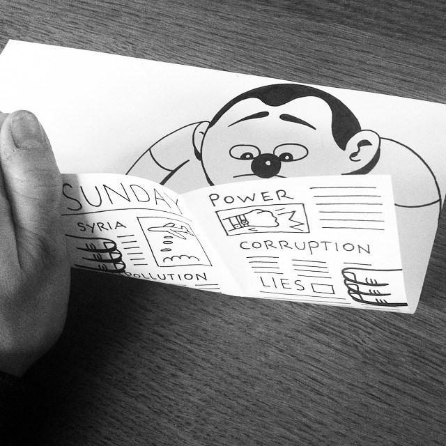 gambar kartun yang kreatif dan terlihat hidup-3