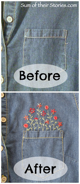 Pocket embroidery