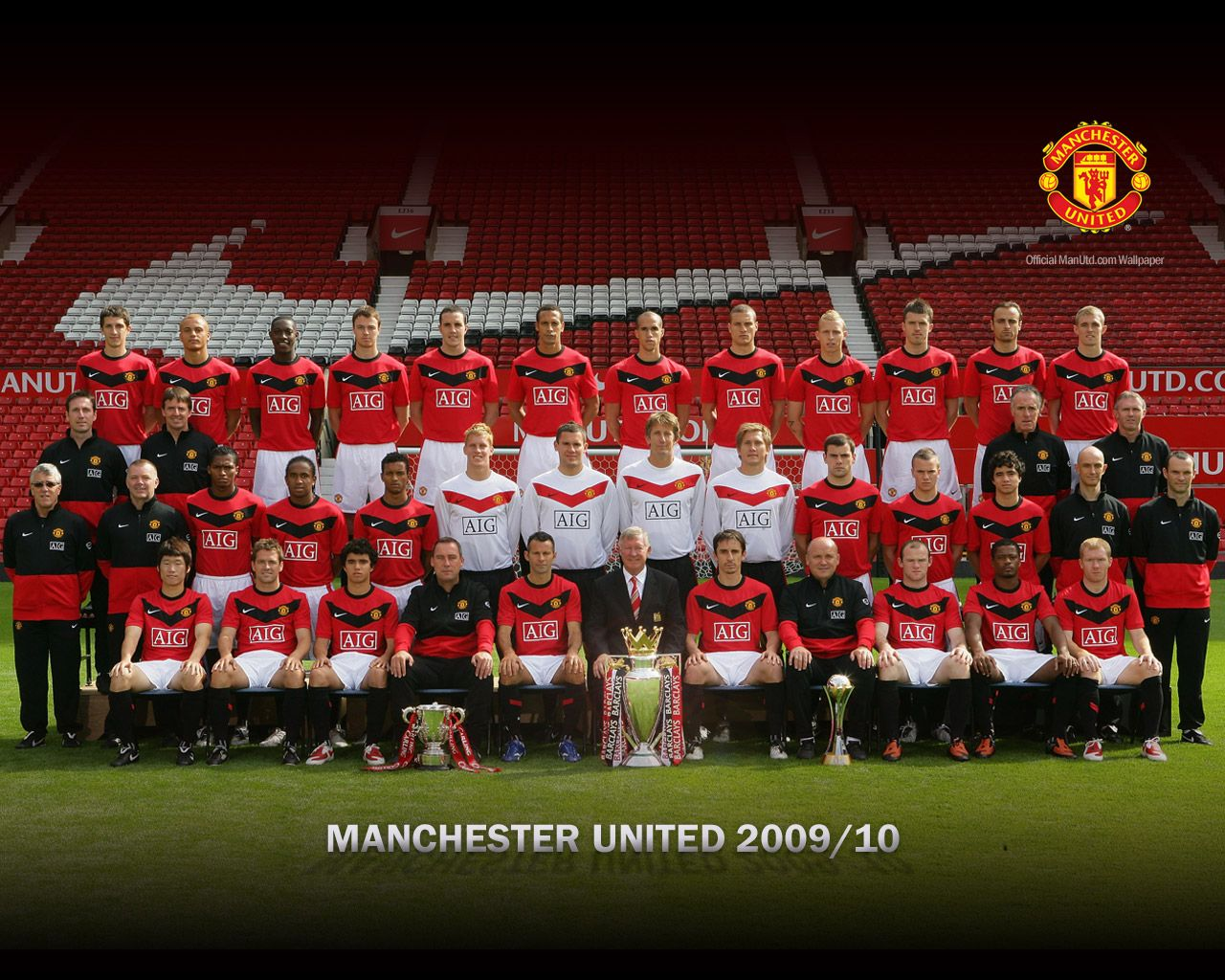 Manchester united 2009 2010 squad wallpaper manchester united manchester united 2009 2010 squad wallpaper voltagebd Images