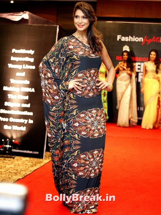 Actor Prachi Mishra walks the ramp, A fashion show to fight AIDS in Mumbai