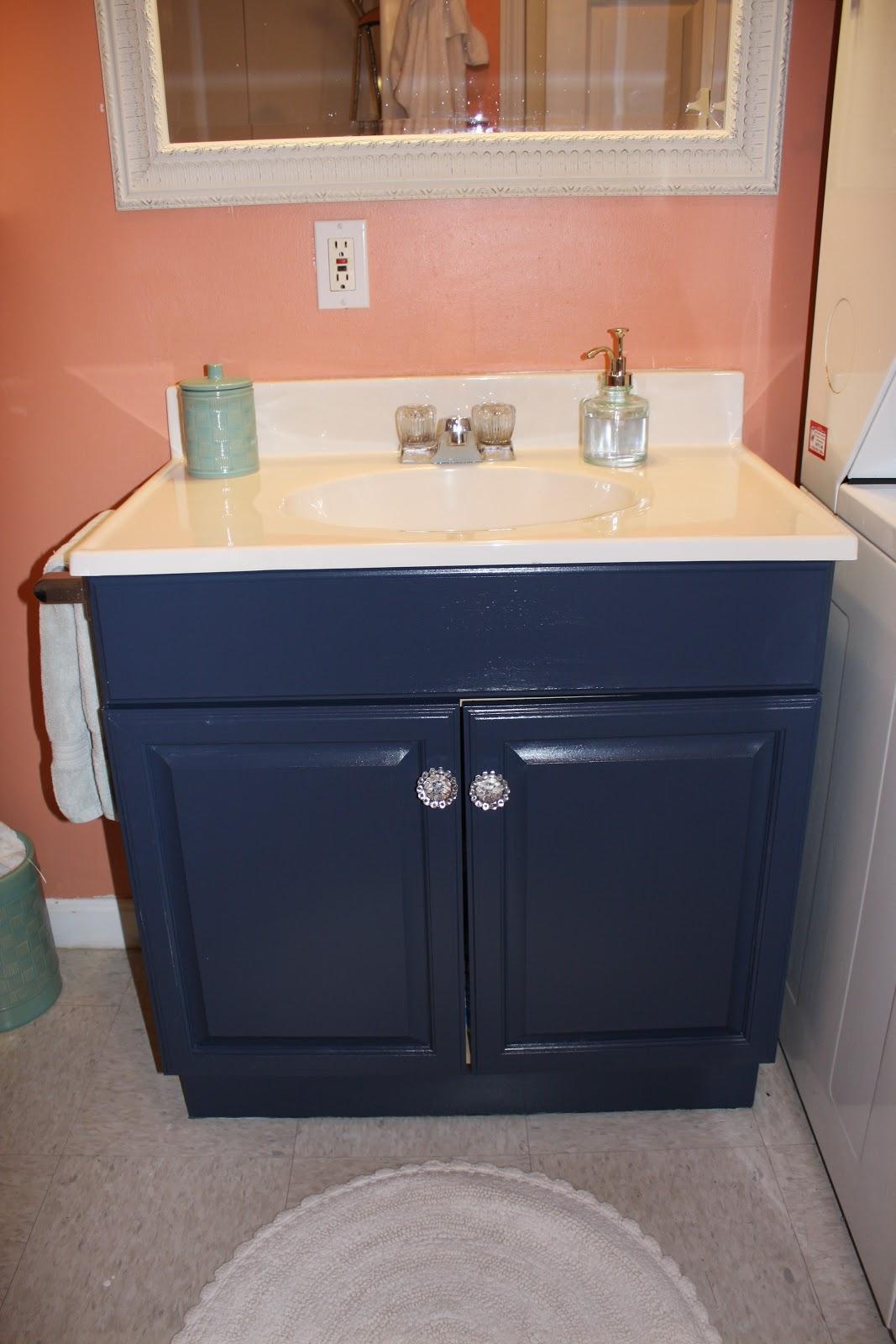 The Elegant House Painting a Laminate Bathroom Vanity