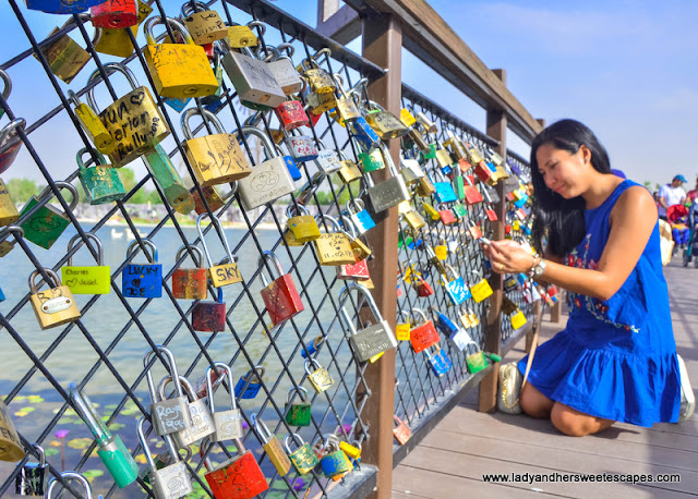 love lock bridge in Dubai