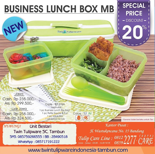 Spesial Edition - Special Price Diskon 20% Maret 2016, Business Lunch Box MB