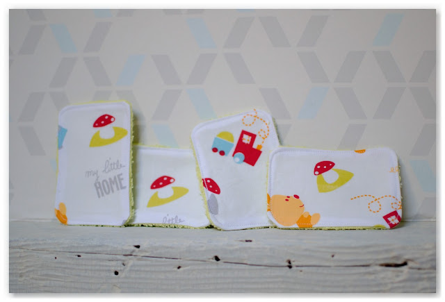 lingettes lavables en tissu éponge pour bébé