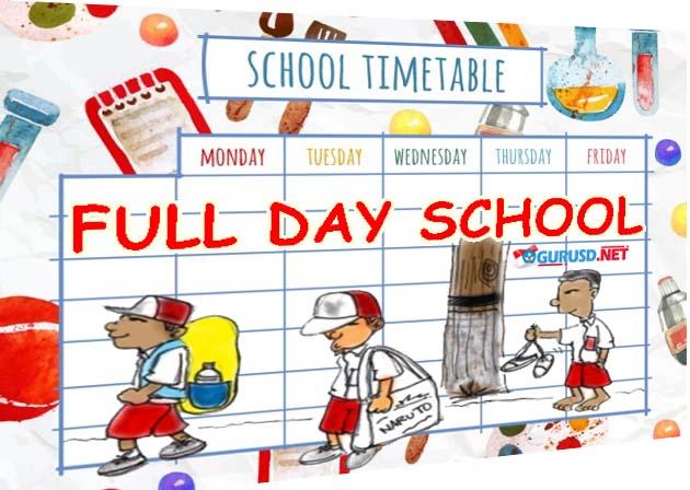 Jadwal Full Day School SD Lengkap Bisa di Sesuaikan