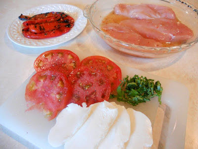 Grilled Caprese Chicken Ingredients