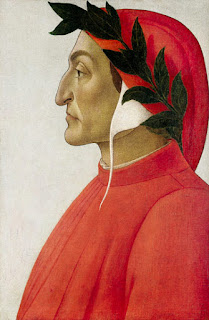 Sandro Botticelli's portrait of Dante, painted in 1495