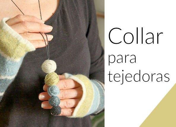 Colgante para tejedoras con bolas forradas