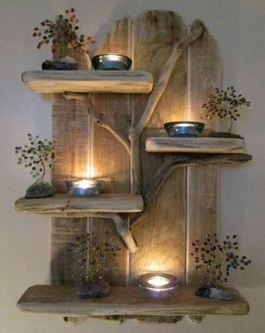 model hiasan dinding dari kayu bekas