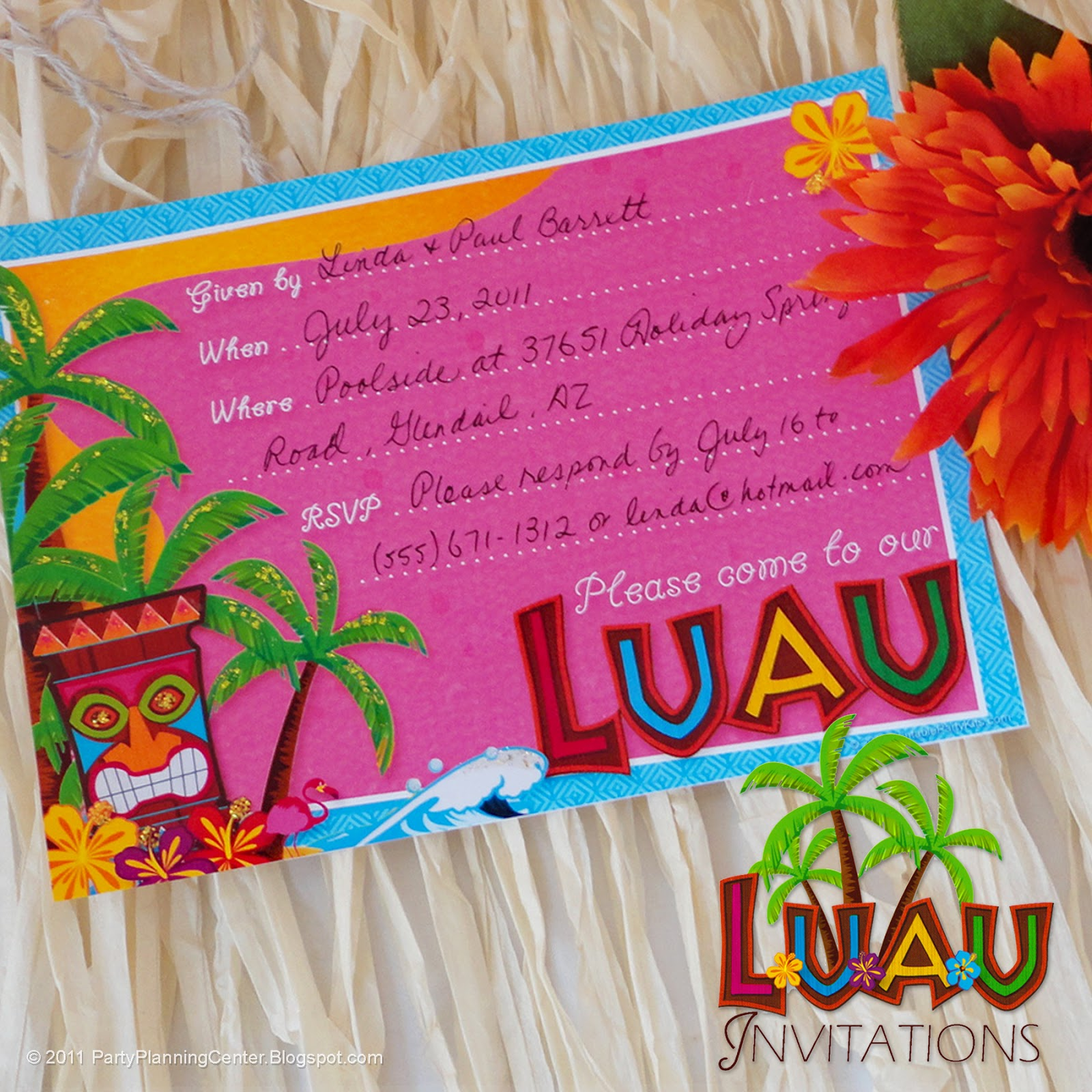 This is a graphic of Hawaiian Theme Party Invitations Printable regarding vintage