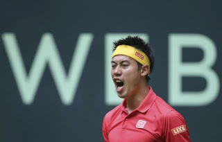 Nishikori all progress at Halle