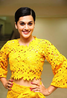 Taapse Paanu Looks super cute slim and gorgeous in Yellow Dress at Ghazi Movie Press Meet
