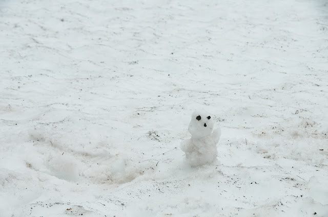 Bonhomme de neige réalisé sur l'Aurlandsfjellet