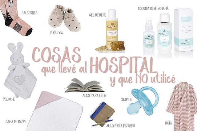 COSAS QUE LLEVÉ AL HOSPITAL Y QUE NO UTILICÉ