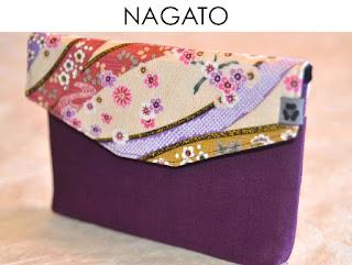 eReader Tasche Nagato aus japanischen Stoffen von Noriko handmade, handgemacht, Einzelstück, Unikat, Design, Hülle