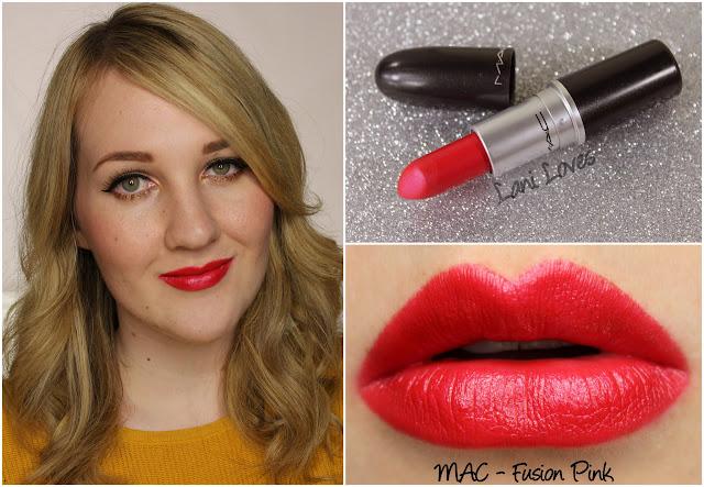MAC Fusion Pink lipstick swatch