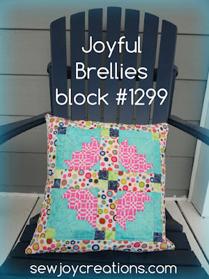 joyful brellies pillow