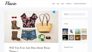 Flavio Simple Blogger Template