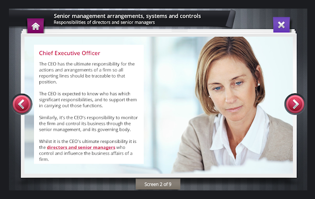 Compliance Serve Screen for Senior Management Arrangements, Systems and Controls