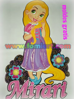 Rapunzel Walt Disney Moldes Gratis