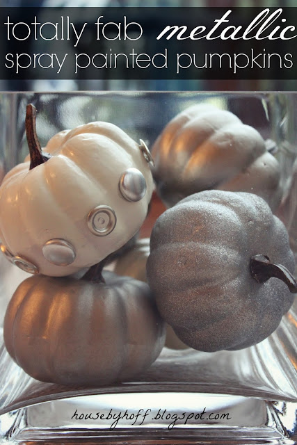 Metallic Pumpkin | 5 Ideas for People Who Don't Carve Pumpkins!  #halloween #pumpkins #noncarvepumpkins #paintpumpkins #diy #holiday